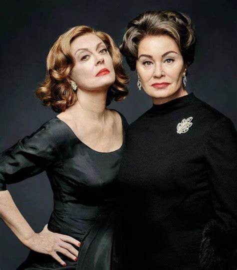 jessica lange and susan sarandon as joan crawford and jessica lange as joan crawford jessicalange jessica