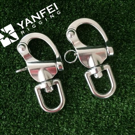 Sus 316 Snap Hook With Eye M6 Stainless 316 Sus 316 Snap Shackle With Fixed Eye Or Swivel Eye Buy