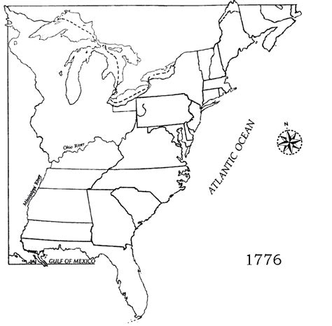 map us colonies 1776 colonial america