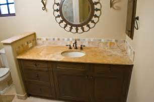 authentic durango dorado vanity countertop and backsplash