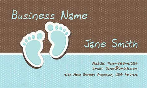 Babysitting Card Template by Day Care Business Cards Design 1101051