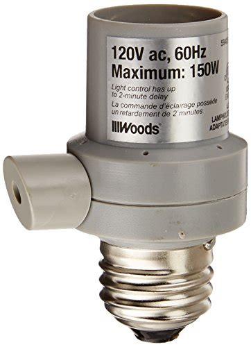 Outdoor Light Sensor Socket Woods 59405 Indoor Outdoor Light Sensor Socket In Automatic Switch 120 Volt Almond