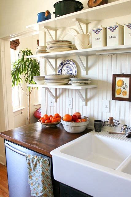 Open Shelving Kitchen Apartment Therapy Simple White Kitchen Shelves Michele And S House