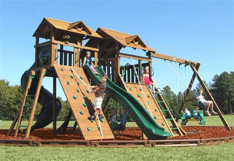 largest swing set creative playthings manchester with fun deck swing set 1