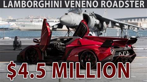 4 million dollar lamborghini veneno 4 5 million dollar lamborghini veneno roadster unveiled