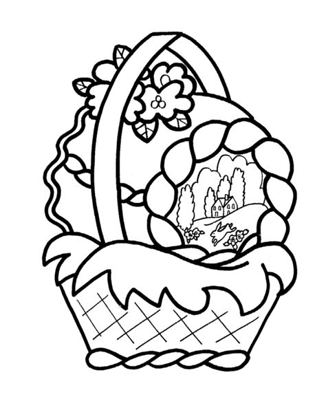 free printable coloring pages easter basket easter basket coloring page coloring home