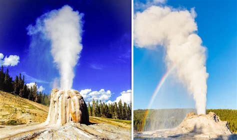 steamboat geyser eruption yellowstone eruption steamboat geyser blast stuns