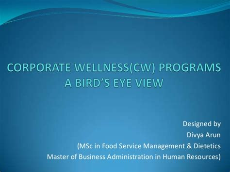 Republic Services Mba Program by A Brief On Corporate Wellness