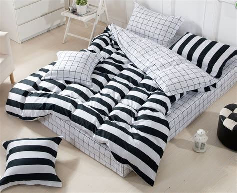 3d black and white striped comforter set sets queen full