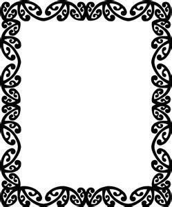 koru patterns black and white maori designs border clipart best