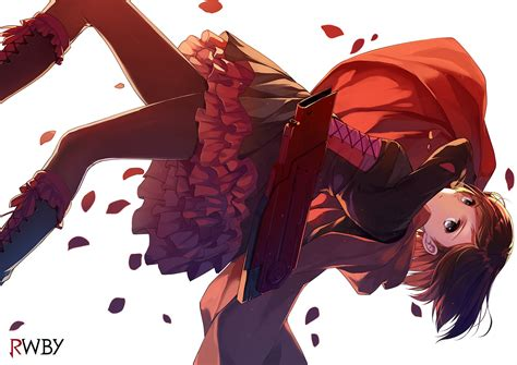 ruby rose rwby hair ruby rose wallpaper and background 1500x1061 id 445263