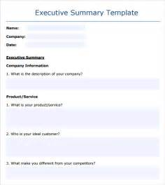 executive summary word template sle executive summary template 8 documents in pdf