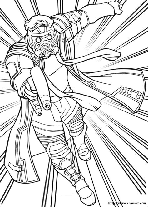 star lord coloring page coloriage star lord