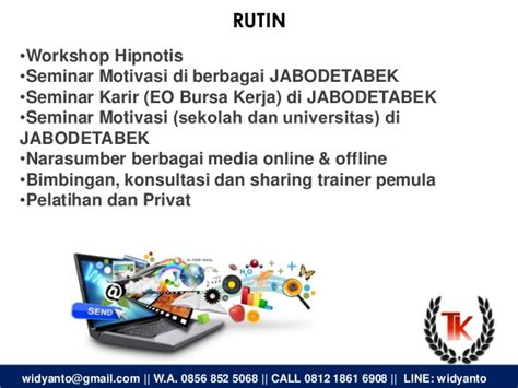 Pelatihan Hipnotis Jabodetabek Konsultan Dan Hipnotis 2016