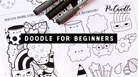 how to draw doodle for beginner doodle for beginners draw with me step by step