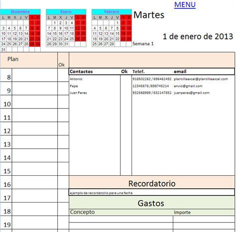 descargar agenda calendario noticias anlisis y agenda 2013 en excel descargar gratis