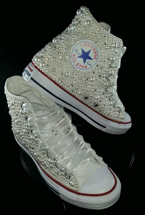 Hochzeit Turnschuhe by Wedding Converse Bridal Sneakers Bling Pearls Custom