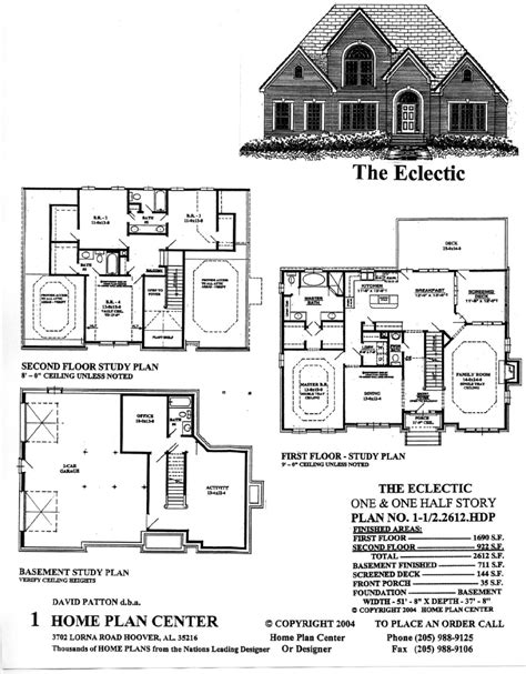 eclectic house plans home plan center 1 1 2 2612 eclectic