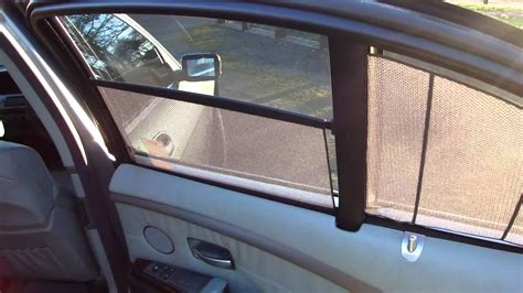 rear window curtains bmw 745i electric rear blinds youtube