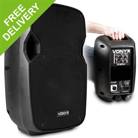 biography speaker exle vonyx ap800a active powered pa speaker small dj monitor 8
