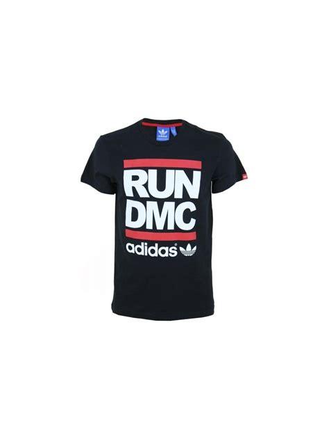 t shirt run dmc l p adidas originals x run dmc logo t shirt in black
