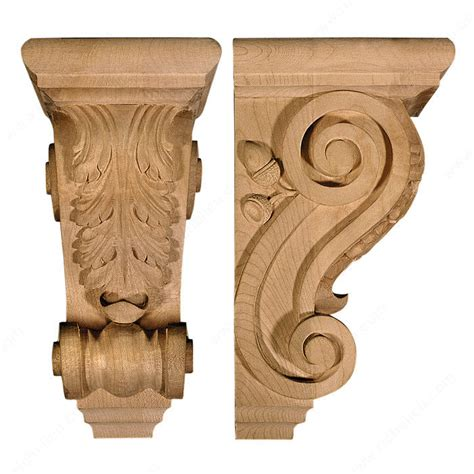 Wood Corbels Canada Acanthus Corbel A1 Richelieu Hardware