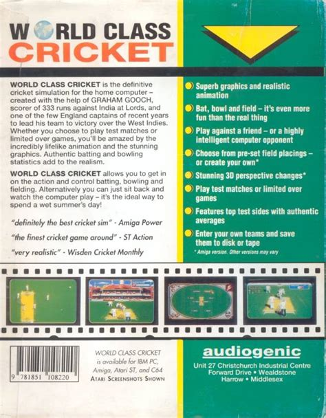 emuparadise cricket 2000 graham gooch world class cricket rom