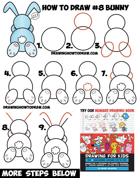 How To Draw A Sleeping Bunny Rabbit From 8