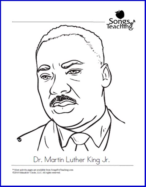 martin luther king jr day free printable coloring page