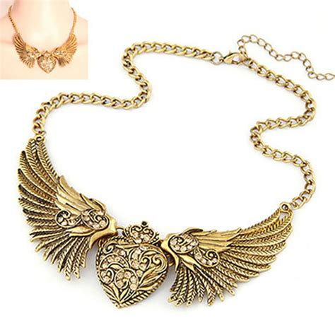 Rhinestone Wing Necklace s fashion rhinestone wings statement