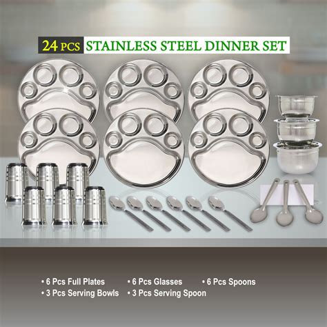 Best Quality Spica 24 Pcs High Quality Stainless Steel Cutlery Set buy 24 pcs stainless steel dinner set at best price in india on naaptol
