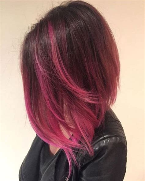 Black And Pink Hairstyles by 40 Pink Hairstyles Pastel Colors Pink Highlights