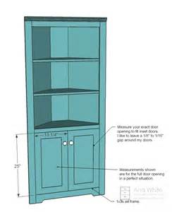 How To Build A Corner Cabinet With Doors White Corner Cupboard Diy Projects
