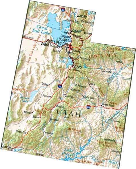 utah state map map of utah ut state map