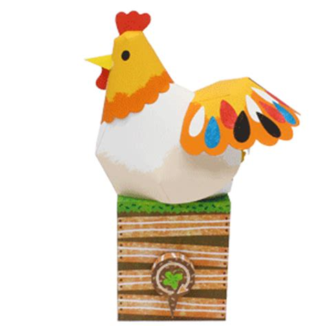 Chicken Papercraft - crossy road chicken papercrafts free