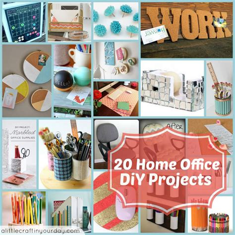 20 diy home projects 20 home office diy projects a little craft in your day