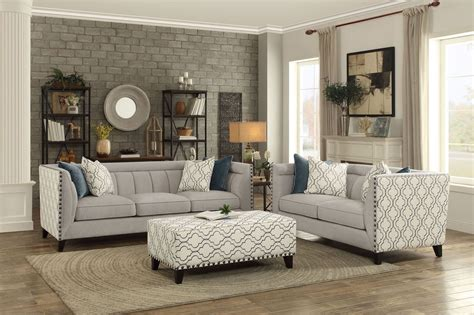 light grey living room furniture temptation light grey living room set from homelegance