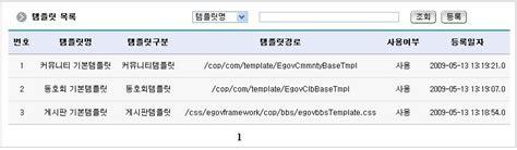 css templates for jsp pages egovframework 게시판템플릿 egovframe