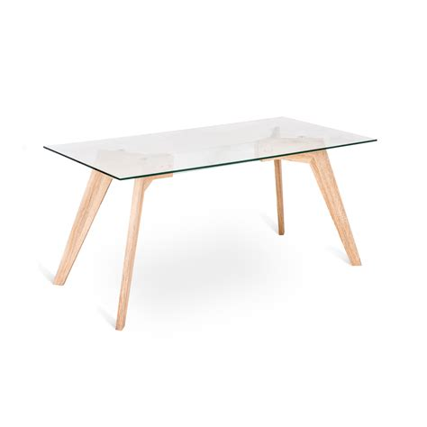 glass and mdf dining table amos modern design