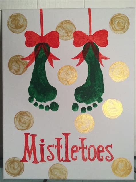 25 best ideas about mistletoe footprint on pinterest