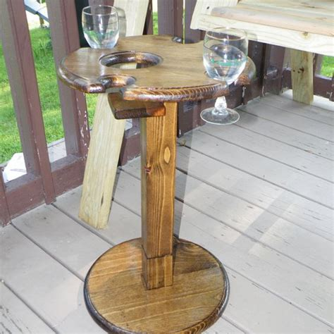 outdoor wine glass holder table indoor outdoor folding wine glass table with bottle holder