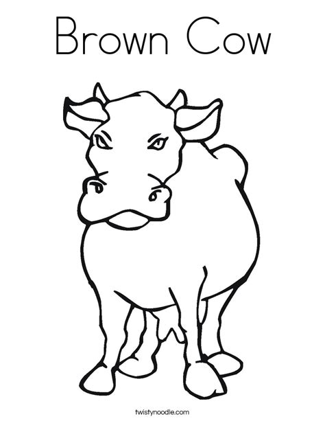 Brown Cow Coloring Page Twisty Noodle Brown Coloring Pages