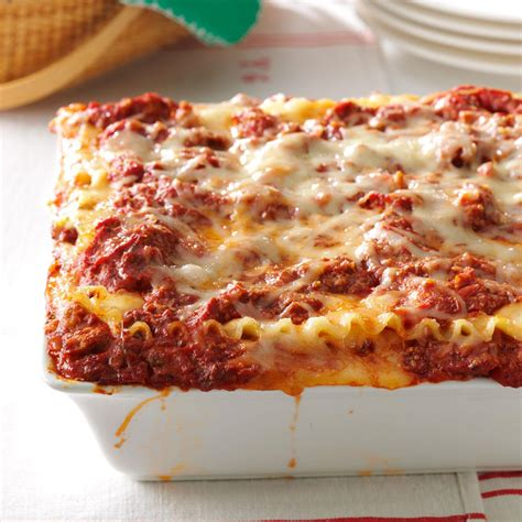 best lasagna recipe taste of home
