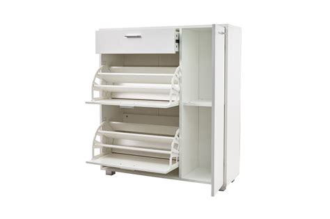 Shoe Rack With Drawer by Other Furniture Hazlo Storage Cabinet With Fold Out Shoe