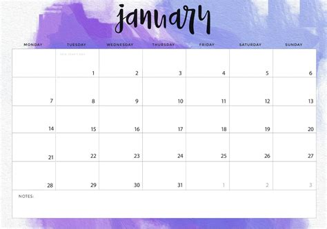 January 2019 Desk Calendar Printable Template Planner January2019 Monthly Calendar 2019 Planner Template
