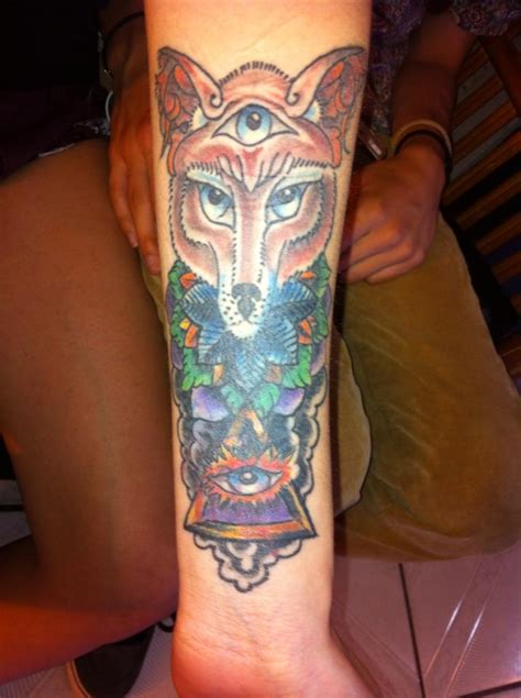 third eye chakra tattoo celestial fox third eye pyramid into the mind custom