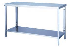table with shelves underneath stainless steel table flat pack with one undershelf