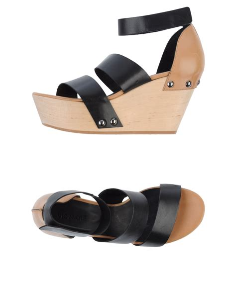 Sandal Heels Vic 637 vic matie sandals in black lyst