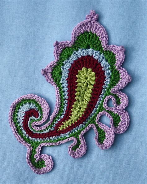 crochet paisley motif pattern free art crochet paisley irish lace patterns crafts ideas