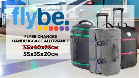 flybe cabin flybe changes luggage allowance